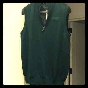 Pebble Beach Concours NWT green wool windvest M